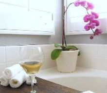diy bathtub shelf, bathroom ideas, diy, shelving ideas, woodworking projects