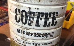 reuse an old coffee can as christmas decor, christmas decorations, crafts, repurposing upcycling, seasonal holiday decor