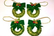 christmas curtain ring wreath ornaments, christmas decorations, crafts, how to, seasonal holiday decor, wreaths
