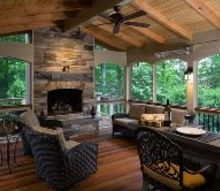screened porch fulfills couple s desires, architecture, outdoor living, porches