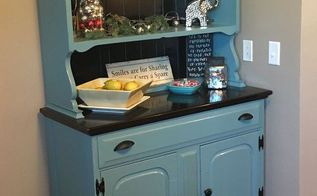 a hutch for my nook, chalk paint, painted furniture