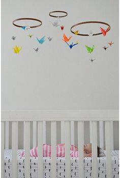 diy birds origami nursery decor, bedroom ideas, crafts