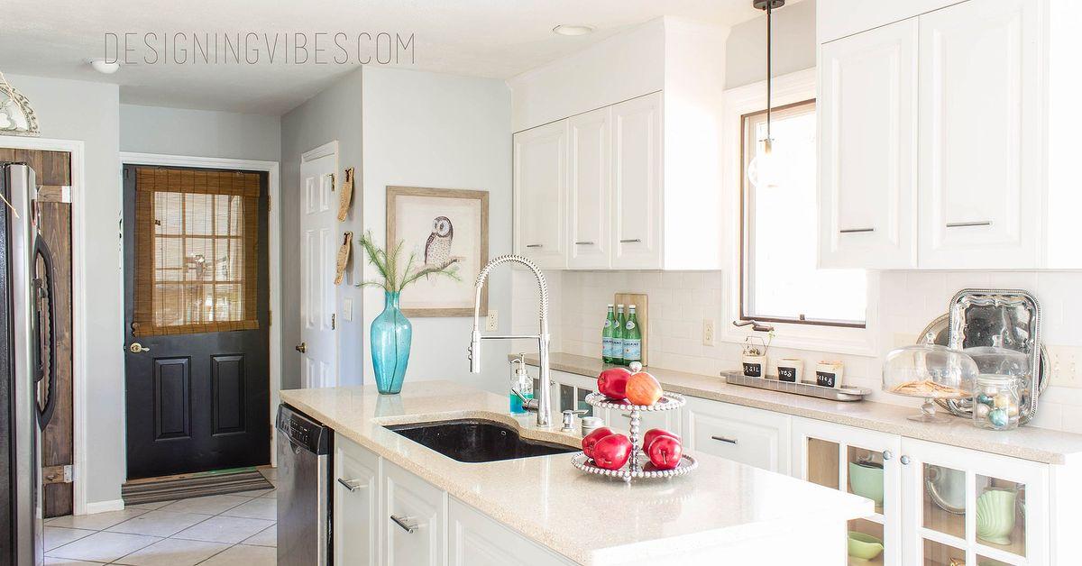 Cheap diy kitchen makeover hometalk for Cheap diy kitchen cabinets