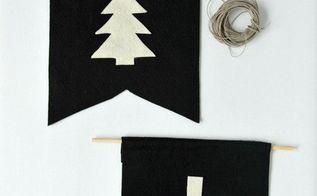 diy felt pennants, christmas decorations, crafts, how to, seasonal holiday decor