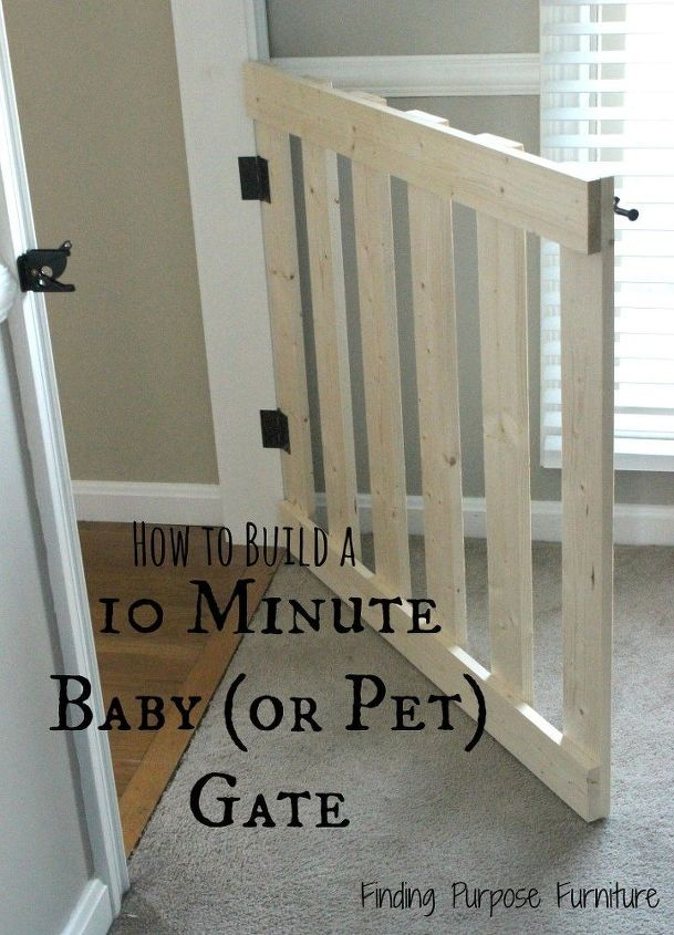 10 Minute Diy Baby Pet Gate Fences Painted Furniture Woodworking Projects
