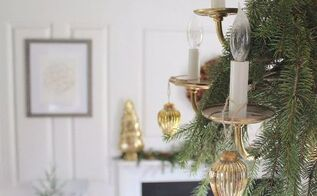 green gold christmas dining room, christmas decorations, dining room ideas, home decor, seasonal holiday decor