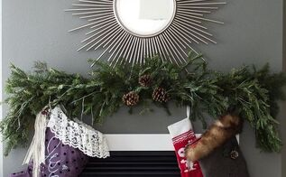 create a faux holiday mantle, christmas decorations, fireplaces mantels, seasonal holiday decor
