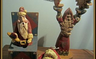 handmade santa collection, christmas decorations, seasonal holiday decor