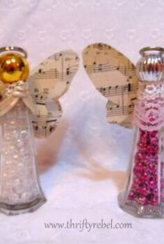 salt and pepper angels, christmas decorations, crafts, repurposing upcycling, seasonal holiday decor