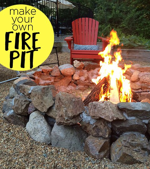 diy backyard fire pit diy how to outdoor living