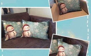 placemat pillows, crafts, repurposing upcycling, seasonal holiday decor
