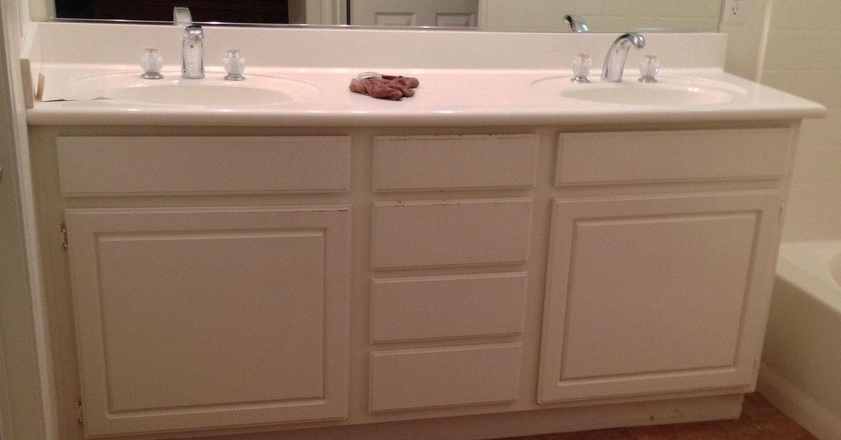 Bathroom Vanity Feet adding wood feet to a bathroom vanity | hometalk