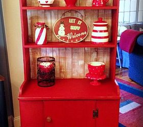 A Merry Red Country Cupboard | Hometalk