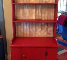 A Merry Red Country Cupboard, Chalk Paint, Painted Furniture, Rustic  Furniture