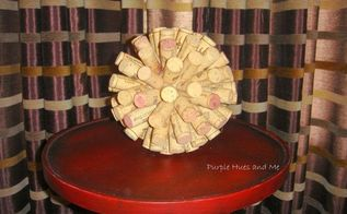 cork ball accent table decor, crafts, repurposing upcycling