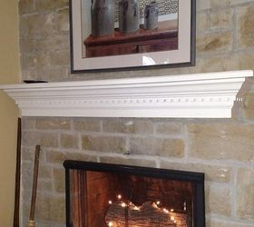 Adding a Mantel to a Stone Fireplace Adds Some Real Character ...
