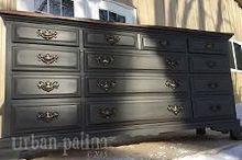 empire dresser makeover, painted furniture