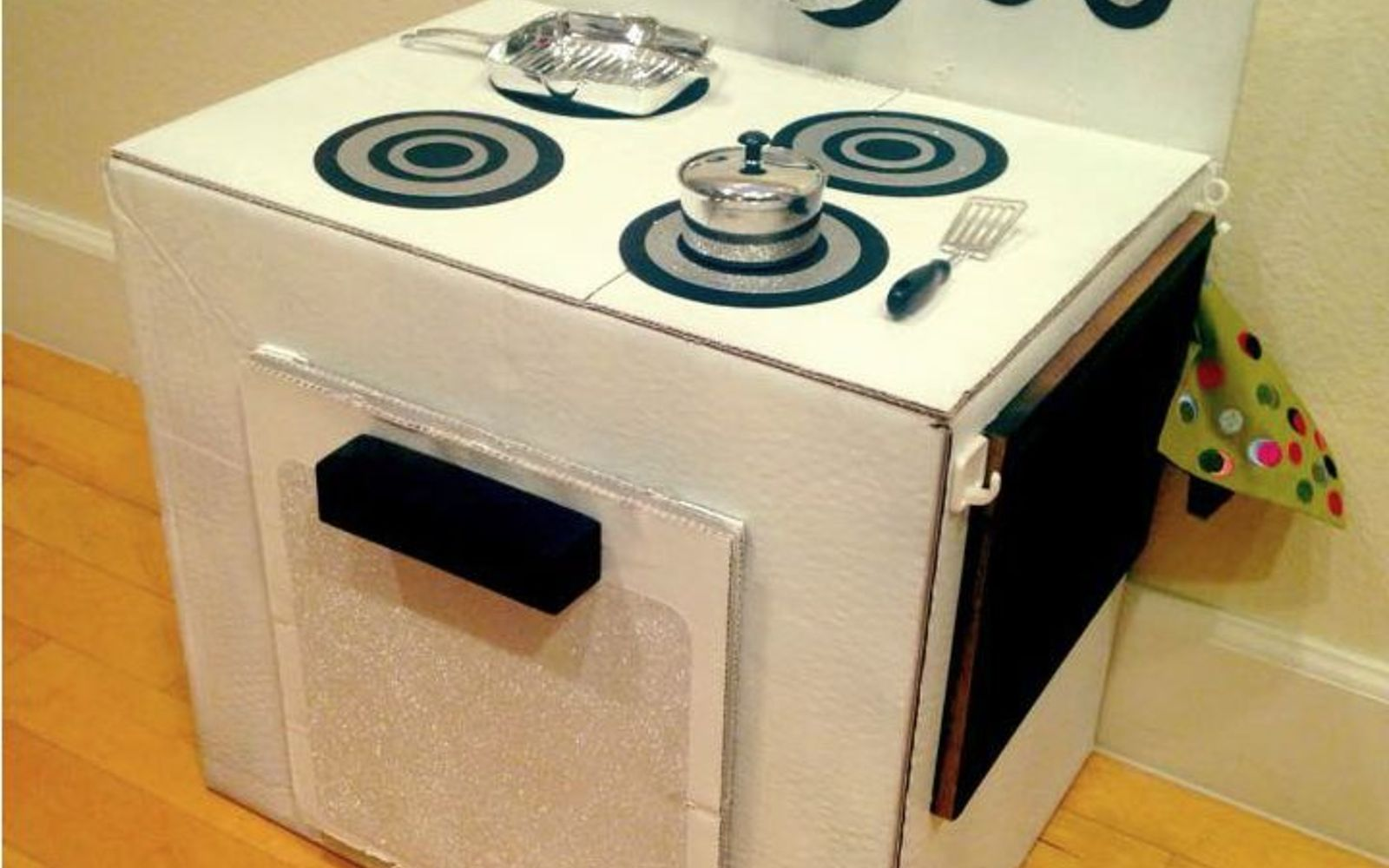 s 15 brilliant ways to reuse your empty cardboard boxes, home decor, repurposing upcycling, Build It into a Play Kitchen
