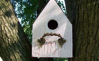 easy diy birdhouse, craft rooms, outdoor furniture, repurpose household items