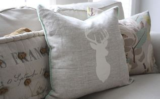 rustic painted pillows diy, crafts, reupholster