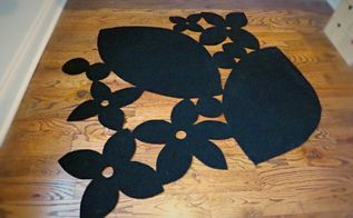 creative diy cutout rug, diy, flooring, reupholster