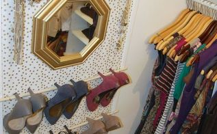 framed fabric shoe organizer, closet, organizing, storage ideas