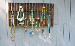 rustic necklace display, organizing, repurposing upcycling, storage ideas