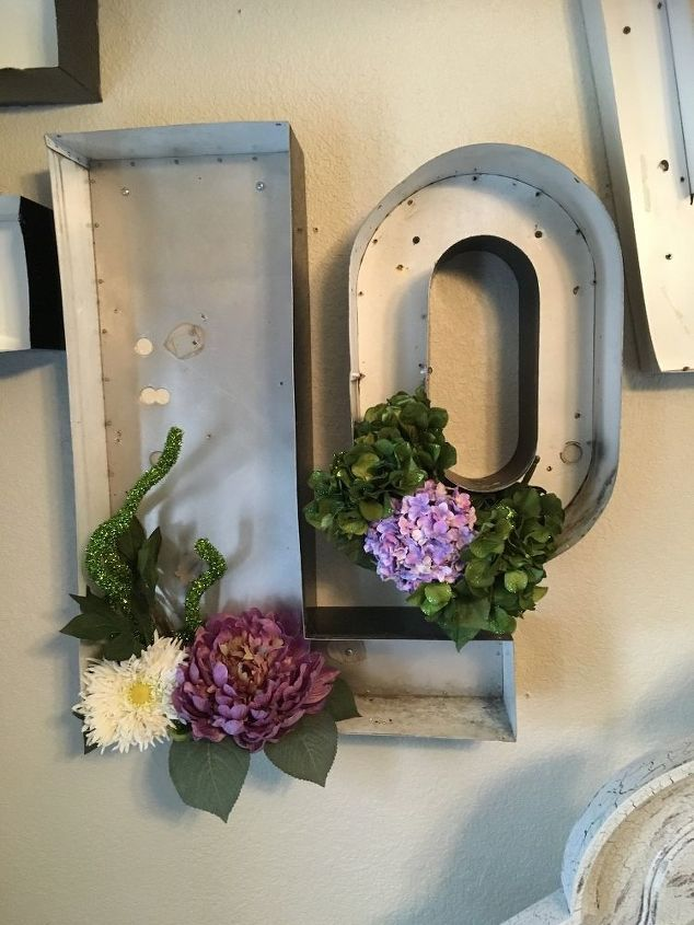 Metal Wall Art For Dining Room : Metal channel letters into dining room art hometalk