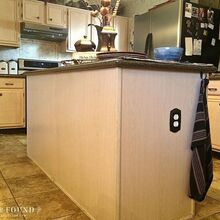 diy builder grade kitchen island upgrade, home maintenance repairs, kitchen design, kitchen island, painted furniture