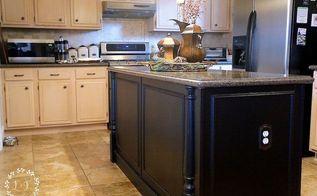 diy builder grade kitchen island upgrade, home maintenance repairs, kitchen design, kitchen island, painted furniture