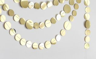 glimmering circle paper garland tutorial, crafts, how to