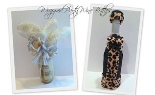 wrapped party wine bottles, crafts