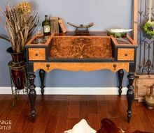 veneer loathing desk upgraded, chalk paint, painted furniture, woodworking projects