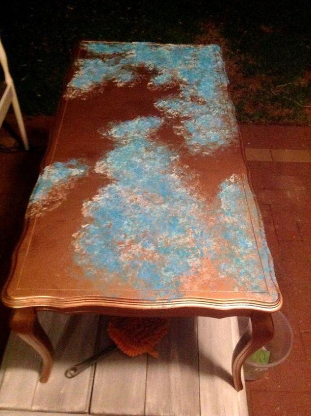 Faux Azul Copper Table Top Tutorial Hometalk
