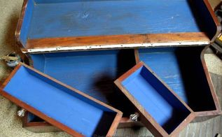 carpenters tool box flea market flip repurposed to table, chalk paint, painted furniture, repurposing upcycling
