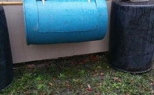diy compost tumbler on the cheap, composting, go green, homesteading