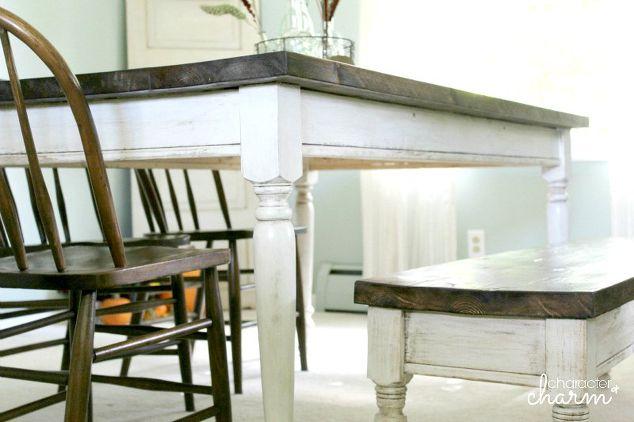$150 DIY Farm Table + Bench | Hometalk