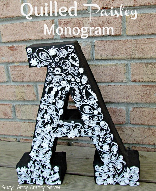 Easy Diy Paisley Quilled Monogram Cardboard Box Crafts Home Decor How To
