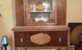 old to new sanding painted furniture china cabinet, painted furniture