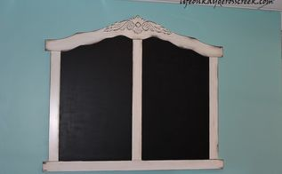 creating a giant chalkboard from the end of a crib, chalkboard paint, repurposing upcycling
