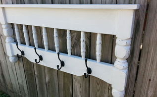 repurposed bunk bed coat rack shelf, painted furniture, repurposing upcycling, shelving ideas, woodworking projects