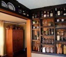 built in kitchen wall shelves, closet, diy, kitchen design, painting, shelving ideas, wall decor
