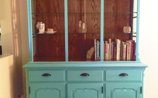 upcycled hutch painted furniture, painted furniture
