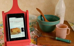 super simple upcycled tablet stand, crafts, repurposing upcycling