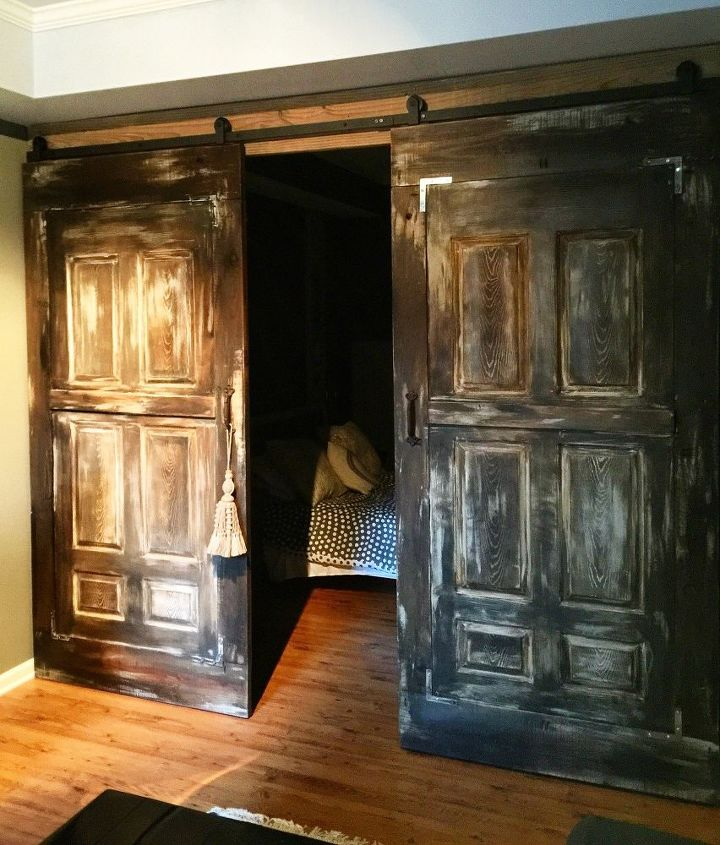 Barn Doors For A Nice Rustic Decor.#UnicornSpitStain