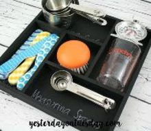 chalkboard kitchen drawer tray, chalkboard paint, crafts, kitchen design, organizing