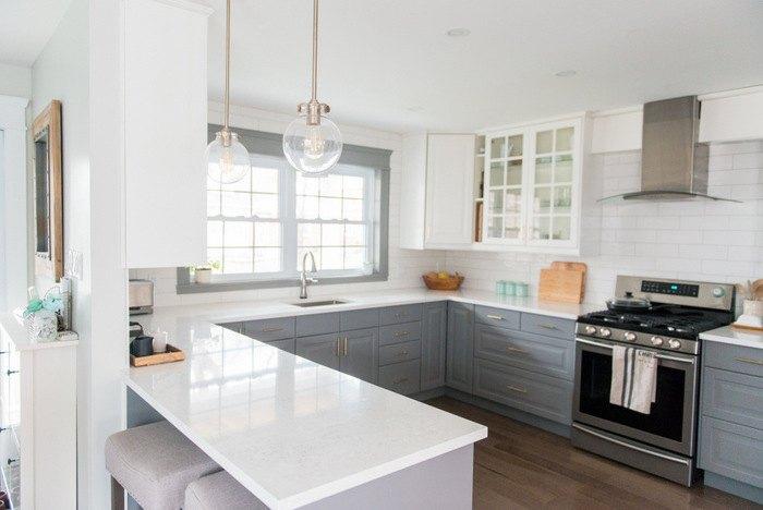 A Gray And White IKEA Kitchen Makeover Hometalk