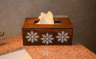 diy wood tissue box cover, crafts, woodworking projects