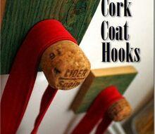 wine cork coat hook, repurposing upcycling, wall decor