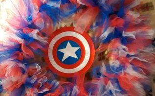 captain america wreath, crafts, wreaths, The finished Captain America wreath